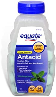 Equate Extra Strength Antacid Wintergreen 750 mg 96 Chewable Tabs Compare to Tums EX (1)