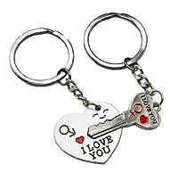ソニーmdr7506( TM )キュートなキーチェーンキーリング Key to My Heart シルバー