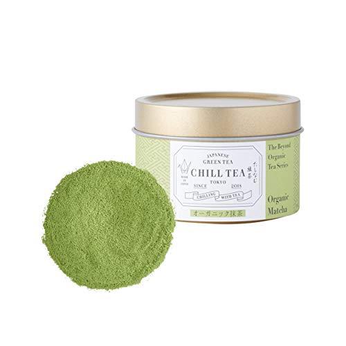 Té verde orgánico Matcha en polvo grado ceremonial de CHILL TEA Tokyo - 100% Té verde matcha japonés -Té vegetariano y no genéticamente modificado - Rico en vitaminas, fibras y aminoácidos -30g