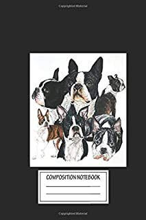 Notebook: Boston Terrier Montage , Journal for Writing, Size 6