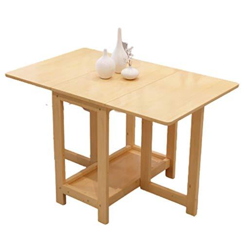 Table Pliante Domestique, Conception Épaissie, Table Et Chaise De Jardin Durables Et Simples Pour Économiser De L'espace, La Surface Est (Color : Wood color, Size : 120cm*75cm*75cm)