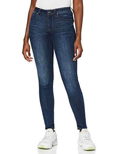 G-STAR RAW Damen Midge Zip Mid Waist Skinny Jeans, Blau (Dk Aged 6553-89), 27W / 32L