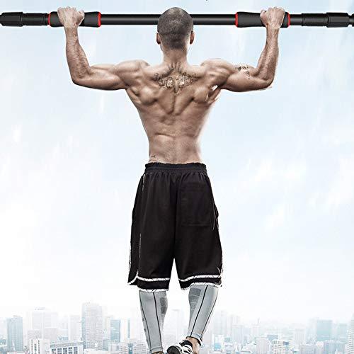 Barra de dominadas para puerta ajustable para ejercicios en casa, gimnasio, portátil, sin tornillos facil de Instalar, Ajustable 66 x 100cm,Bar Sport Fitness Equipments hasta 120KG peso de carga (100)