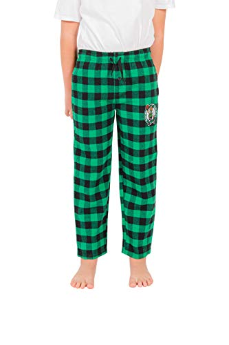 Ultra Game NBA Boston Celtics Youth Sleepwear Super Soft Flannel Pajama Loungewear Pants, Team Color, 18/20