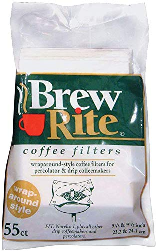 Brew Rite Wrap Around Percolator Coffee Filter 55 Ct (Pack of 2)