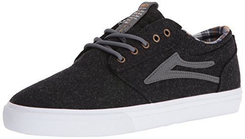 Lakai Men's Griffin Skateboarding Shoe, Phantom Textile, 8 D US