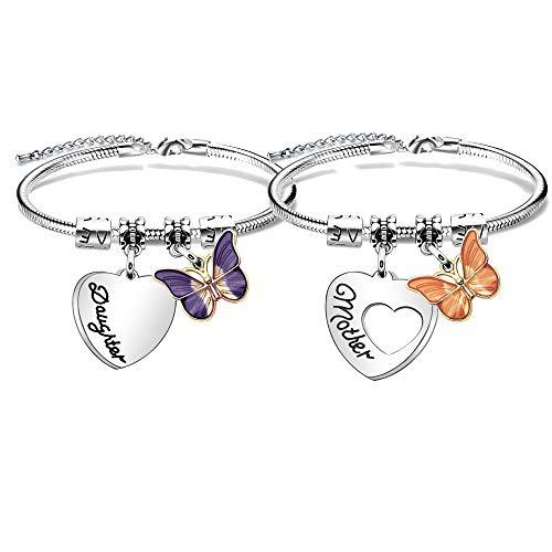 Coagurmes Sisters - Pulseras de diamantes de imitación para mujer, niña, hermana mayor, hermana,...