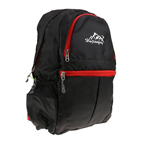 Sac à Dos Pliable Léger Sac Trekking Etanche 20L Unisexe pour Spoirt de Plein Air - Noir, 308x218x420mm