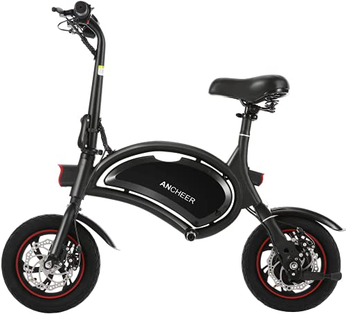 ANCHEER Folding Electric Bike 350W Motor Scooter 12 Inch City Commuter Ebike with 15 Mile Range, Dual Disc Brake