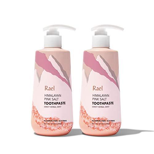 Rael Himalayan Pink Salt Toothpaste - Natural, Vegan, Paraben-Free, Fresh Breath, Oral Care (Sweet Herbal Mint, 600g (Pump))