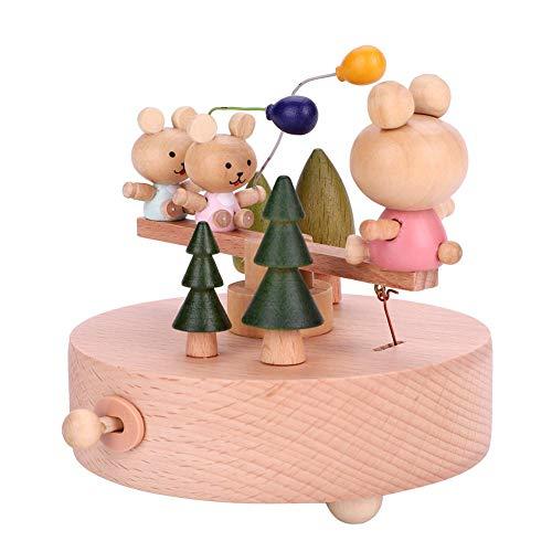 Caja de Música de Madera Bebé Creativo Artesanía de Juguete Juguetes de Música Vintage para El...
