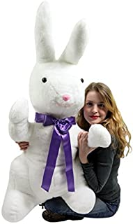Big Plush American Made Giant Stuffed Bunny White Soft 42 Inch Rabbit