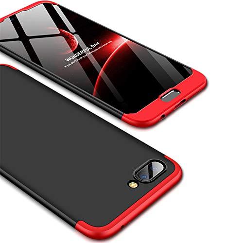 IMEIKONST Huawei P8 Lite Funda 3 in 1 Ultra Slim PC Hard Cubierta 360 Grados Protección Anti-Shock Anti-Scratch Caso Cover Carcasa para Huawei Honor 8 Lite / P9 Lite 2017. 3 in 1 Black + Red AR