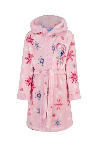 Die Eiskönigin Disney Bademantel mit Kapuze für Mädchen aus kuschelig warmen und weichen Coral Fleece Gr. 98-140 (Größe 98)
