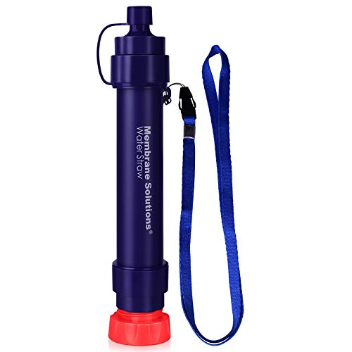 WS02 Personal Water Filter Straw - 0.1 Micron 4-Stage Water Purifier Survival Gear - 3,000L Portable...