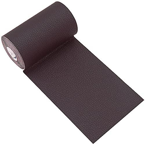Panngu Kit de parches de piel marrón autoadhesivos, parches de piel prémium autoadhesivos, parches de reparación para sofás agrietados, quemaduras, asientos de coche (7,6 cm x 152 cm)