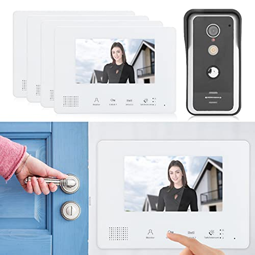 Portero automático, kit de timbre visual Sistema de 2 cables para oficina para la seguridad del hogar para visión nocturna Portero automático para el hogar