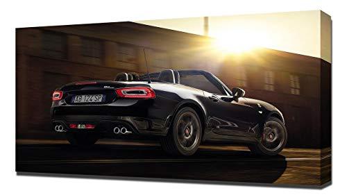 2017 Fiat Abarth 124 Spider Scorpione V3 - Stampa Artistica su Tela - Stampa Tela Canvas