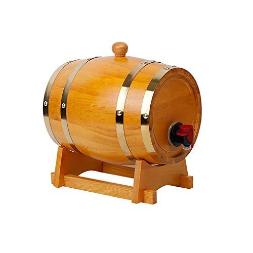 HWhome Color Madera Barriles De Roble,Vino Barril Dispensador,Barricas De Roble Vintage De 3L/5L/10L/15L/20L/30L For Almacenar O Envejecer Cerveza De Whisky De Vino(Botellero Gratis)(Size:30L)