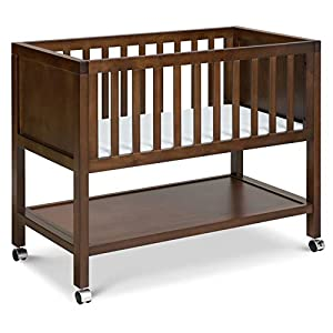 DaVinci Archie Portable Bassinet in Espresso, Greenguard Gold Certified