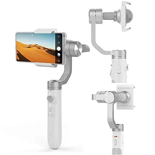 Gymqian Teléfono Inteligente Estabilizador de Gimbal Plegable Gris Estabilizador Ajustable Del Estabilizador Del Estabilizador de la Mano Del Estabilizador de Mano con la Batería de