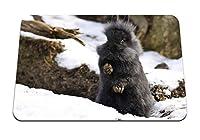 22cmx18cm マウスパッド (ウサギふわふわの森恐怖雪) パターンカスタムの マウスパッド