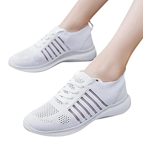 Hbeylia Walking Running Sport Shoes For Women Men Lightweight Breathable Mesh Lace Up Fashion Sneakers Comfort Athletic Hiking Tennis Trainers Shoes For Couples Driving Gym Fitness Workout