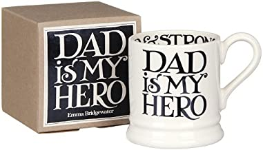 Emma Bridgewater - Black Toast 'Dad is my Hero' 1/2 Pint Mug, Boxed by Emma Bridgewater