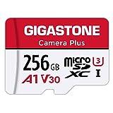 Gigastone Scheda di Memoria Micro SDXC da 256 GB, Telecamera Plus Serie, A1 U3 V30 UHS-1, Velocità Fino a 100/60 MB/Sec(R/W). Compatibile con GoPro Fotocamere Videocamere Tavoletta, con Adattatore SD