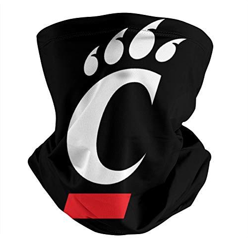Cincinnati Bearcats Football Baskerball Logo Vintage Seamless Face Mask Headband Multifunctional Scarf Neck Gaiter Balaclava for Dust Outdoor Sports Festivals for Adults