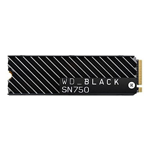 WD_BLACK 500GB SN750 NVMe Internal Gaming SSD Solid State Drive with Heatsink - Gen3 PCIe, M.2 2280, 3D NAND, Up to 3,430 MB/s - WDS500G3XHC