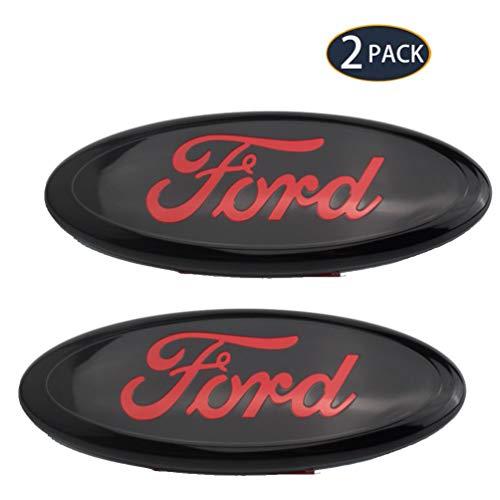 UFFD 2 Paquete de la Insignia de Ford Parrilla Delantera Accesorios Volver a Montar, Insignia del Coche Etiqueta engomada del Cuerpo Galvanizado Decoración para el Carnaval Mondeo/Fox de Ford Viejo