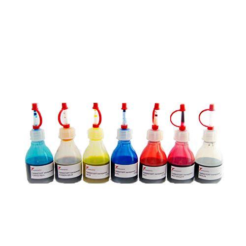 Flüssiges lichtdurchlässiges Pigment Set 7 Farben