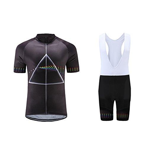 Uglyfrog Designs Radtrikot Herren Fahrradbekleidung Set Outdoor Sports Kurzarm Fahrradbekleidung + Radfahren Latzhose Shorts im Sommer