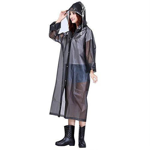 Ponchos de lluvia transparente Unisex impermeables con capucha portátil ligero de lluvia transpirable abrigo impermeable couve-vant cortavientos Raincoat para Camping senderismo pesca viaje