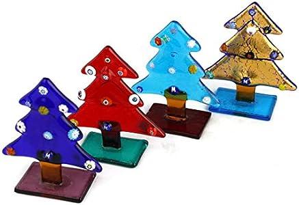 Árbol de Navidad – Colores mixtos y Murrine – Cristal de Murano original OMG