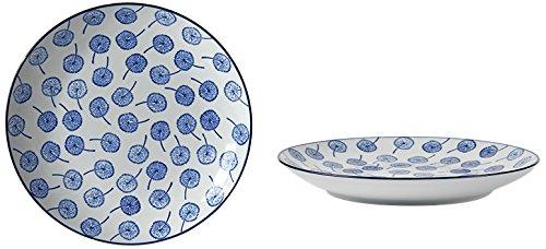 Fill 21305 Set aus 4 Porzellantellern, Kollektion Indigo, FL.003 Indigo