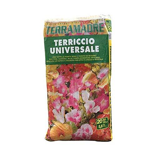 EUROTERRIFLORA Terriccio Universale 20 Litri ammendante Misto per Piante orto Fiori - Prodotto Naturale già concimato