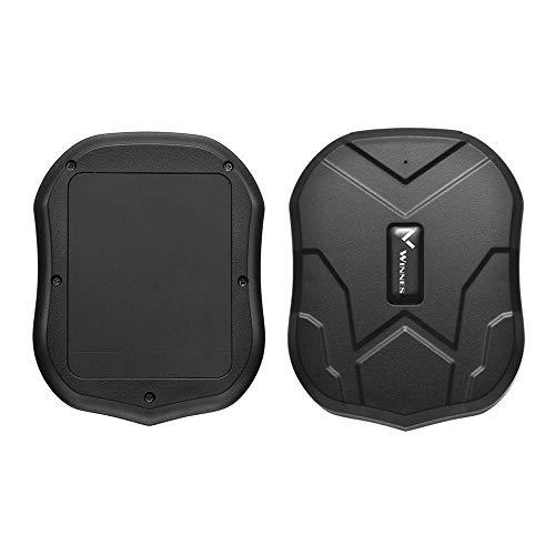 Winnes GPS Tracker 150 Giorni Standby Localizzatore GP Tracciatore,Antifurto satellitare Locator Per AUTO/Veicoli/MOTO con Magnete Potente e Batteria APP Gratuita (TK905B-10000mah)