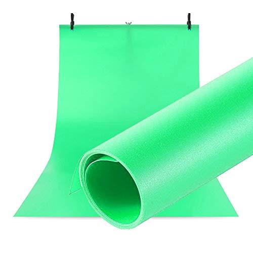 Selens PVC Hintergrund 100x200cm Wasserdicht Fotografie Hintergründe Matte Background für das Fotostudio Grün