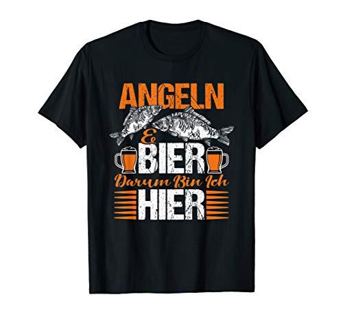 Angler Fischer Fischerhut Angel Ausrüstung - Angel und Bier T-Shirt