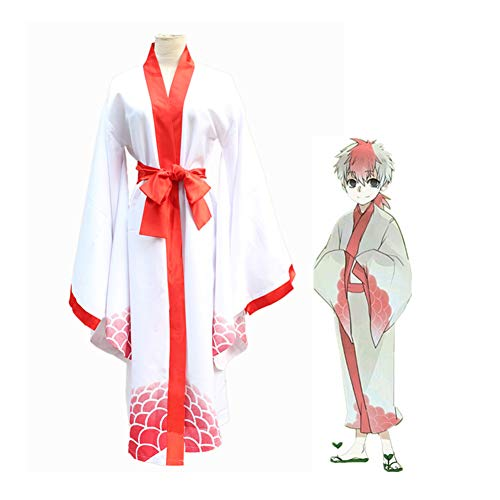 PAOFU-Hoozuki No Reitetsu Cosplay Kostuum Halloween Carnaval Fancy Dress Kimono,White,S