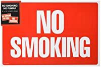 Cosco 098068 Two-Sided Signs No Smoking-No Fumar 8 x 12 Red