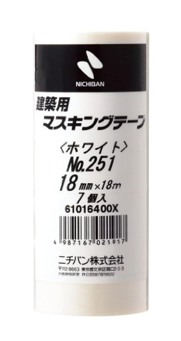 NICHIBAN architectural masking tape, Vol. 7, input 18mm ~ 18m 251H-18