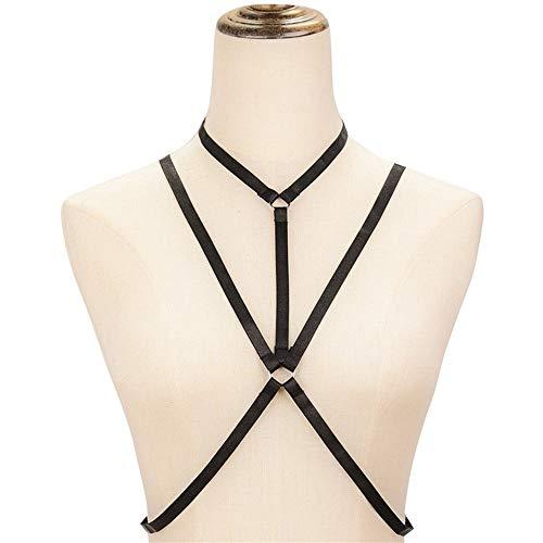 Uniformen korte mouwen Harness beha-bandjes Women's Temptation Sex Sexy Lingerie Kostuums Bandage Ondergoed ZHQHYQHHX (Color : Black, Size : One size)