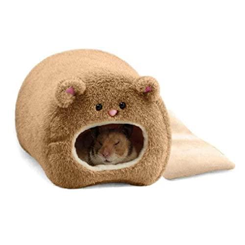 Liadance Pc 1 Los Hámsters De Cama De Algodón De La Forma del Oso Hamster Casa En Suministros Pequeña Mascota (café)