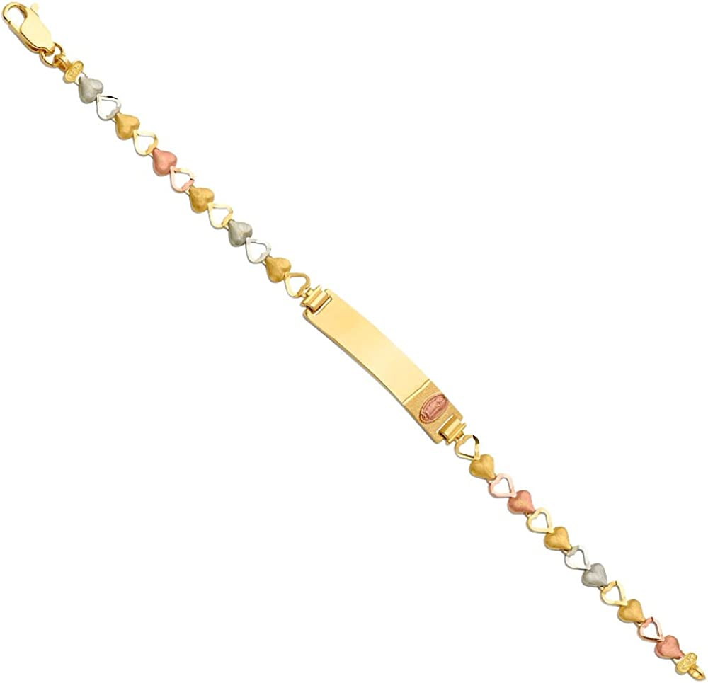 14k Yellow Gold White Very popular and And Boys Girl Gorgeous Rose Guadalupe