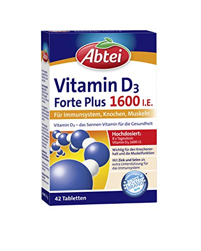 Abtei Vitamin D3 Forte Plus 1600 I.E., 42 Tabletten