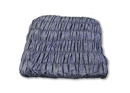 BIANCHERIAWEB Copridivano Angolare Universale Arricciato Blu Angolare Blu