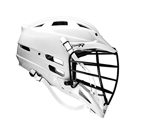 Cascade CPX-R Lacrosse Helmet - All White, Black Facemask